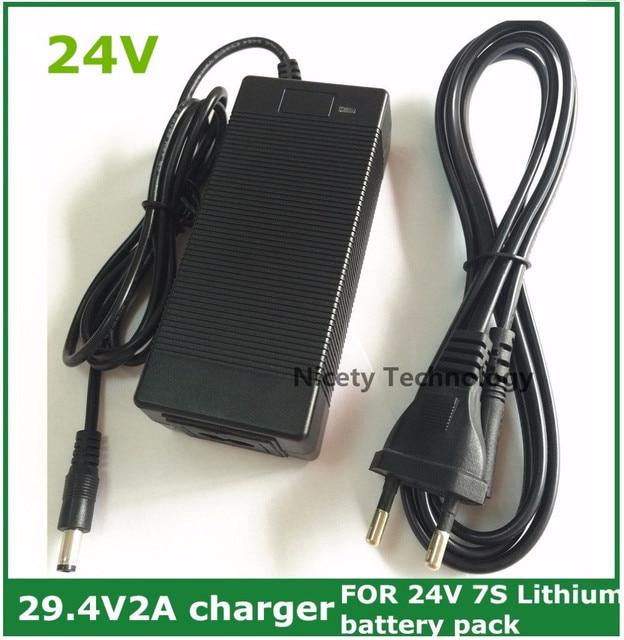 24V Li Ion Lader Output 29.4V2A Voor 25.2V 25.9V 29.4V 7 Serie Li Ion Lithium Batterij 29.4V Oplader 24V E Bike Charger