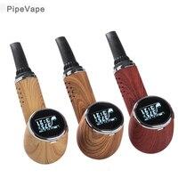 Cool vape pipe shape Premium Portable herbal Vaporizer kit e cigarettes vape pen dry herb Tempreture control LED screen 1000mAH