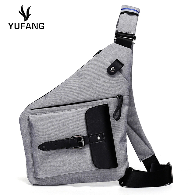 YUFANG Male Crossbody Bag Oxford Cloth Chest Bag Fashion Style Man Bag  Leisure Thin Casual Men 1aa44b98b2df3