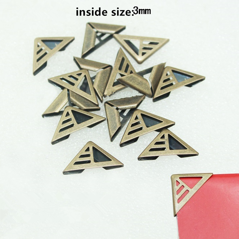 Book Scrapbooking Corner Albums Folders Corner Protectors Bronze Tone,Hollow Cover,Fit 3mm Thickness,10PCs corner protectors book scrapbooking albums hollow style silver tone 2 3x1 2cm 100pcs