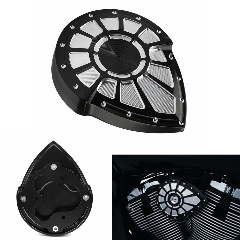Black Aluminum Bahn Right Side Ignition Cover Accent Machined To Perfection For Victory 2004-2017 2006 2007 2015 2016
