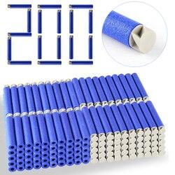 Heißer Verkauf 200 teile/los 13 Farben Weiche Kugel Flache Weichen Kopf Schaum Kugeln für Nerf N-strike Elite Serie 7.4c * 1,3 cm Geschenk Dropship
