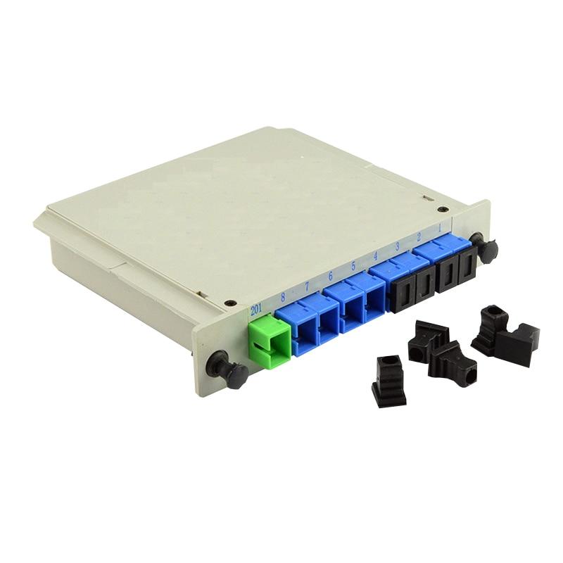 ZHWCOMM SC UPC PLC 1X8 Fiber Optical splitter FTTH PLC Splitter box Free Shipping