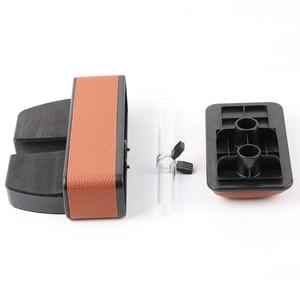 Image 5 - Boîte de rangement pour la console centrale de voiture en cuir artificiel universel, extension 2019, support pour accoudoir de voiture