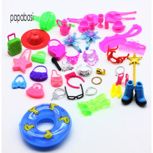 50pcs 1/6 BJD doll accessories (Bags,Glasses,Tableware,earphone, Necklace,Combs,Shoes,Swimming laps ) for barbies doll girl toy(China)