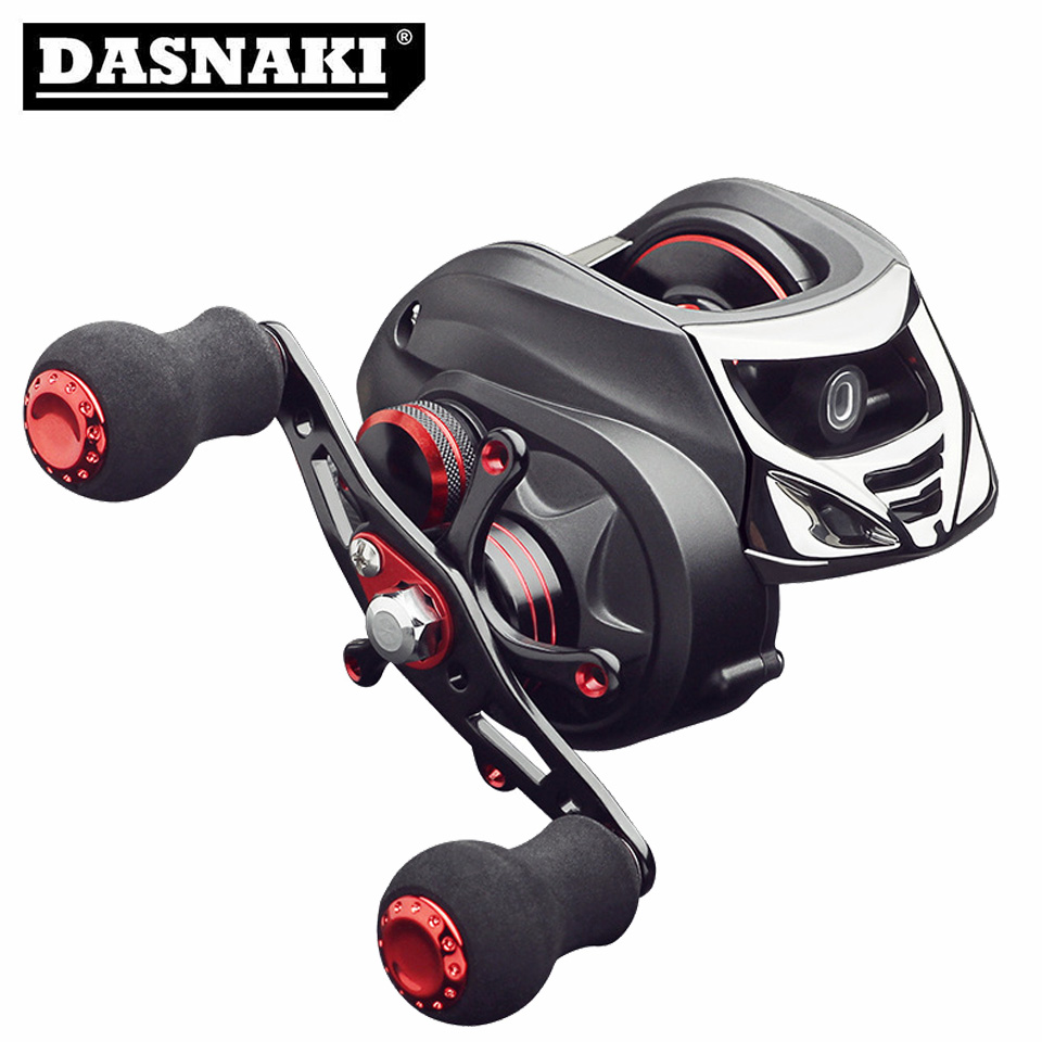 DASNAKI Baitcast reel 5.5kg Power fishing baitcasting reel Magnetic Drag 7.0:1 reels Light Carbon Body molinete de pesca