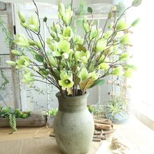 76cm 9Heads Magnolia Artificial Flower Wedding Decoration Chaistamas Party Home Garden Birthday Decor