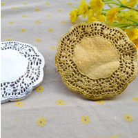 100PCS/LOT 4.5/5.5/6.5/7.5/8.5/10/12 Inch gold silver paper doilies placemats coasters table accessories mat pad paper coasters