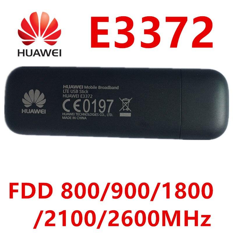 Déverrouiller huawei e3372 e3372h-153 4G LTE Dongle bâton de données Modems clé USB 4g dongle huawei 4g Modem pk e3272 e8372