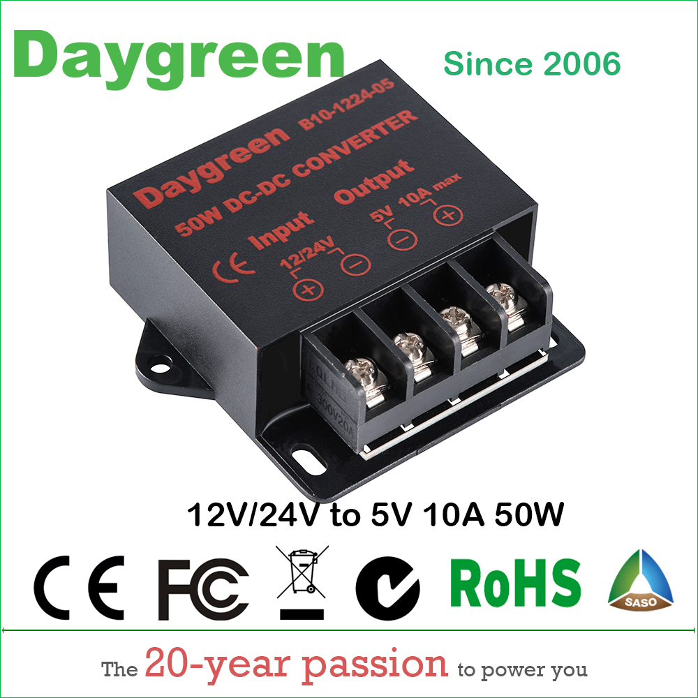 12V to 5V 10A 24V to 5V 10A 50W DC DC Converter Regulator Car Step Down Reducer Daygreen CE Certificated 12V/24V to 5V 10AMP 12v to 5v 24v to 5v 5a dc dc step down power supply car power converter black page 8