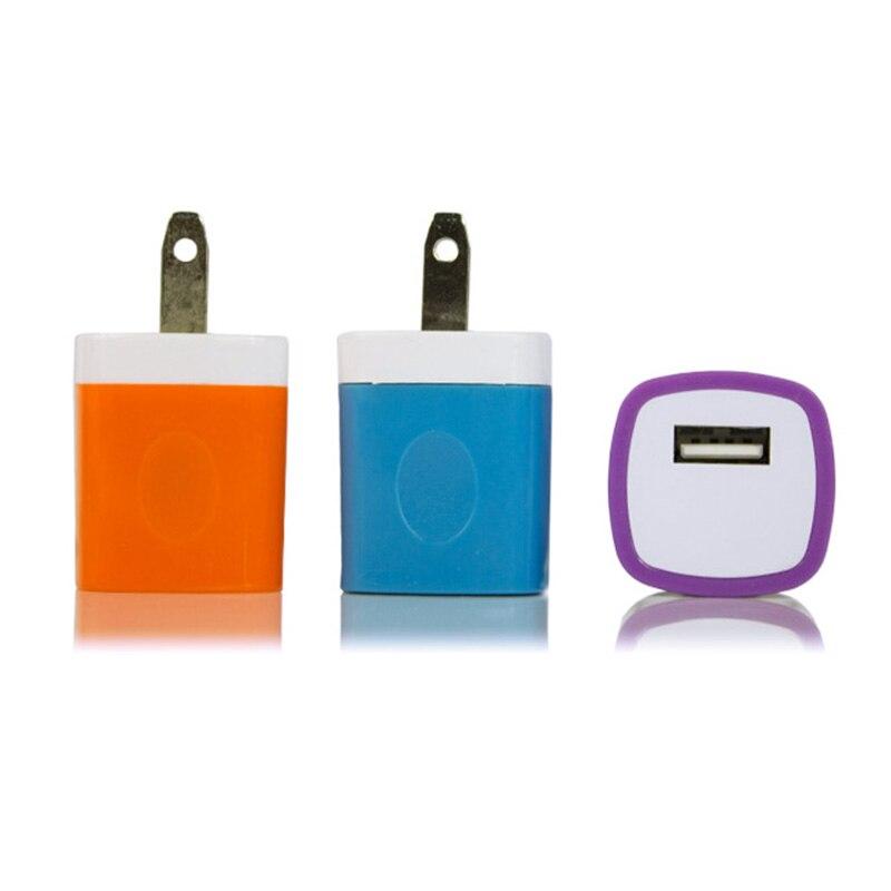 Горячее цветное зарядное устройство для путешествий, адаптер питания, штепсельная вилка США, USB, Зарядное устройство переменного тока для ...
