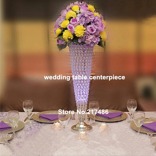 Trumpet Glass Vase For Party Eventscrystal Glass Flower Vases For