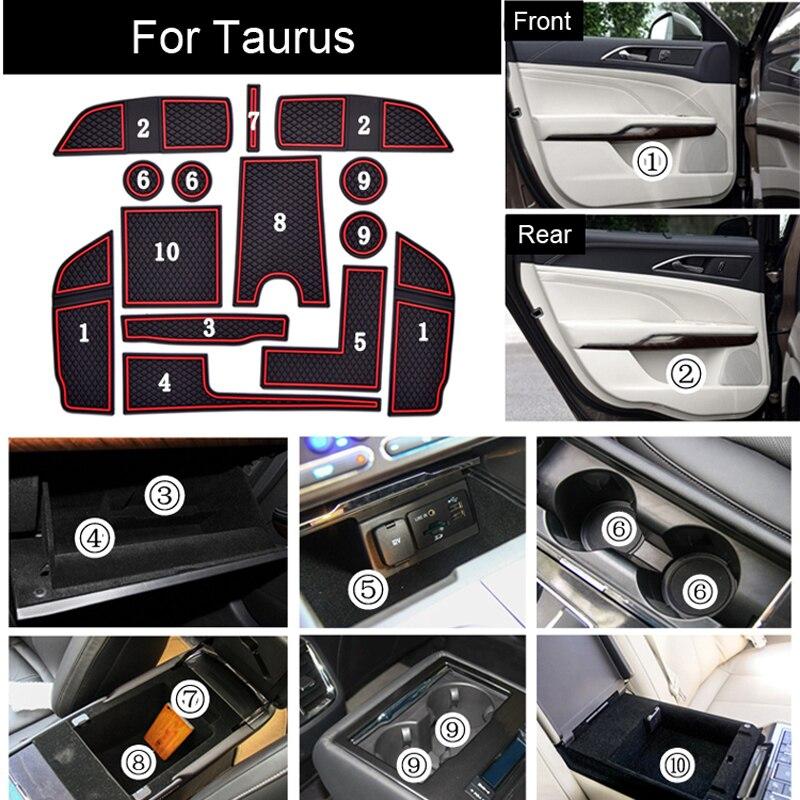 Non-Slip High Quality Interior Soft Rubber Cup Holder Pad Door Panel Mats For Ford Taurus 2qty задняя стойка амортизатора задней подвески для ford taurus mercury sable
