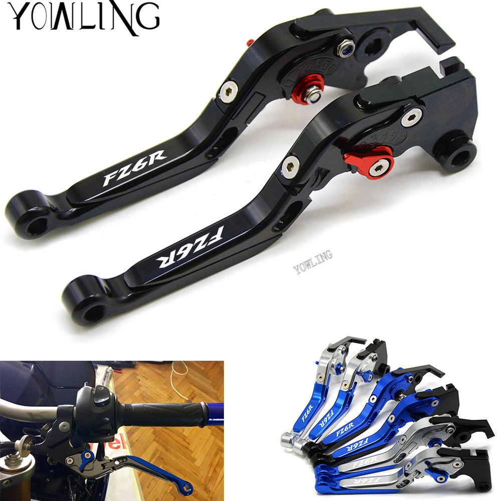 Motorcycle Accessories Adjustable Motorcycle Brake Clutch Levers For Yamaha FZ1 FZ6 FAZER FZ6R 2009 2010 2011 2012 2013 2014 15 cnc billet adjustable long folding brake clutch levers for yamaha fz6 fazer 04 10 fz8 2011 14 2012 2013 mt 07 mt 09 sr fz9 2014