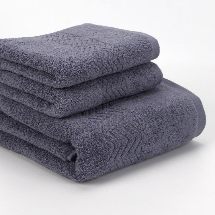 Ensemble de serviette en coton de luxe tissu de lavage du visage 1 pc serviettes de bain salle de bain hôtel éponge Jacquard serviettes pour adultes hommes toalha 3 pièces/ensemble