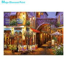 City Street night Diamond Painting scenic House Round Full Drill 5D Nouveaute DIY Mosaic Embroidery Cross Stitch home decor gift
