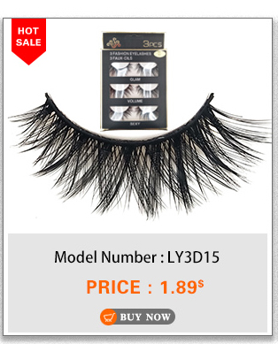 e8fcc7576d3 YAQIMEIER 3d False Eyelashes Hot Sale Handmade Faux Mink Lashes Charming  Long / Messy /Thick /Cross Lashes Women Makeup & Beauty