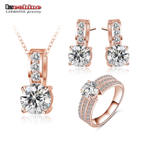 2014 Big Sale 80 Off Bridal Jewelry Sets Platinum Plated Brand Necklace Pendant Earring Ring Set