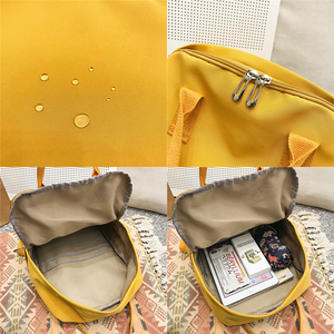 Image 5 - Mochilas impermeables Harajuku para mujer, morrales escolares a la moda para chicas adolescentes, mochila Kawaii de nailon, bolso de lujo para mujer
