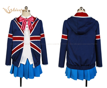 Kisstyle Fashion Kin-iro Mosaic Karen Kujo Uniform Cosplay Clothing Costume