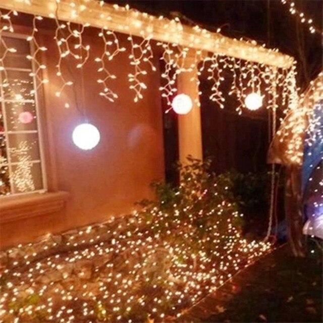 Luces LED intermitentes para Festival de Navidad, 10m x 0,5 m, 320 v 110v, enchufe EU, US, AU, Noel