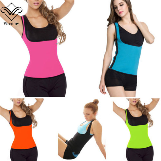 Wechery Modeling Strap Waist Trainer Corsets for Sweat Vest Neoprene Top Body Shaper Slimming Belly Sheath Shapewear Plus Size