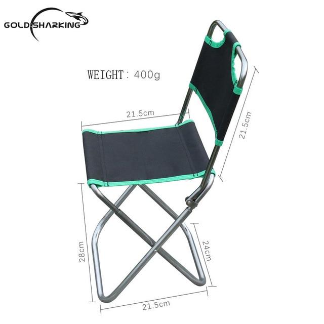 Gold SharkingHigh Quality Outdoor Fishing Chair Seat Folding Chair Fishing  Stools For Outdoor Camping Picnic Beach