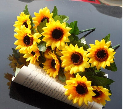 Hot prodávat displej květina skutečný dotek neznečišťující sluneční květina Umělá květina simulace svatba nebo domácí dekorativní květina