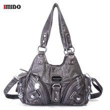 Handbags Shoulder Bag Fashion sac a main PU Leather Top-handle Handbag Female Satchel Large Hobo Purses Han for Women 2019 недорого