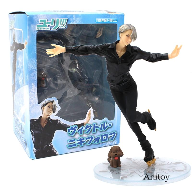 Cartoon Anime Yuri!!! on Ice Victor Nikiforov 1/8 Scale PVC Figure Collectible Model Toy 22cm yuri on ice anime nikiforov victor katsuki yuuri plisetsky yuri beaneye ver japanese rubber keychain