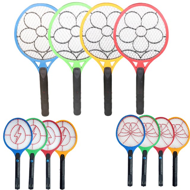 2017 1pcs Portable Electronic Mosquito Swatter Insect Pest Bug Fly Mosquito Zapper Swatter Killer with Rechargable Battery