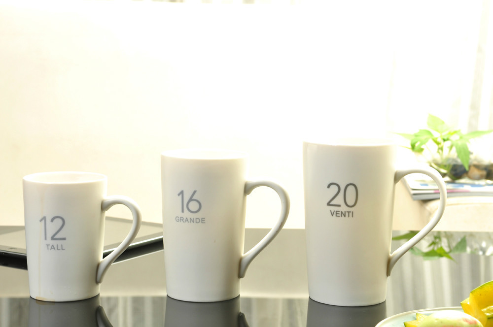 New Coffee Mug 98ml 360ml 480 Ml 600ml Ceramic Tea Cup Porcelain Creative Gift 4pcs Simple Style Promotion In Mugs From Home Garden On