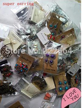 freeshipping!  new arrival ,Korean Fashion Earrings 500 pcs a mixed bag mixed lot, 500pair/lot