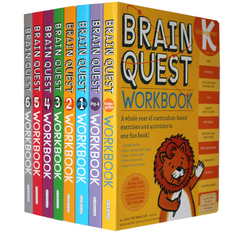 Brain Quest Workbook English Version Of The Intellectual Development Card Books Questions And Answers Card Smart Child Kids