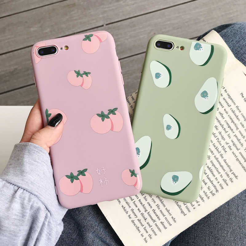 Summer Fruits Avocado Soft Case For Vivo Y85 Y66 Y67 Y71 Y75 Y79 Y83 Y93 Y97 Y95 Y17 Y3 V15 X27 X9 X9S X20 V7 Plus Cover in Fitted Cases from Cellphones Telecommunications
