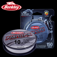 Original Berkley Brand NanoFil 150yd 137m Fishing Line Clear Mist Uni Filament Fishing Line Zero Memory
