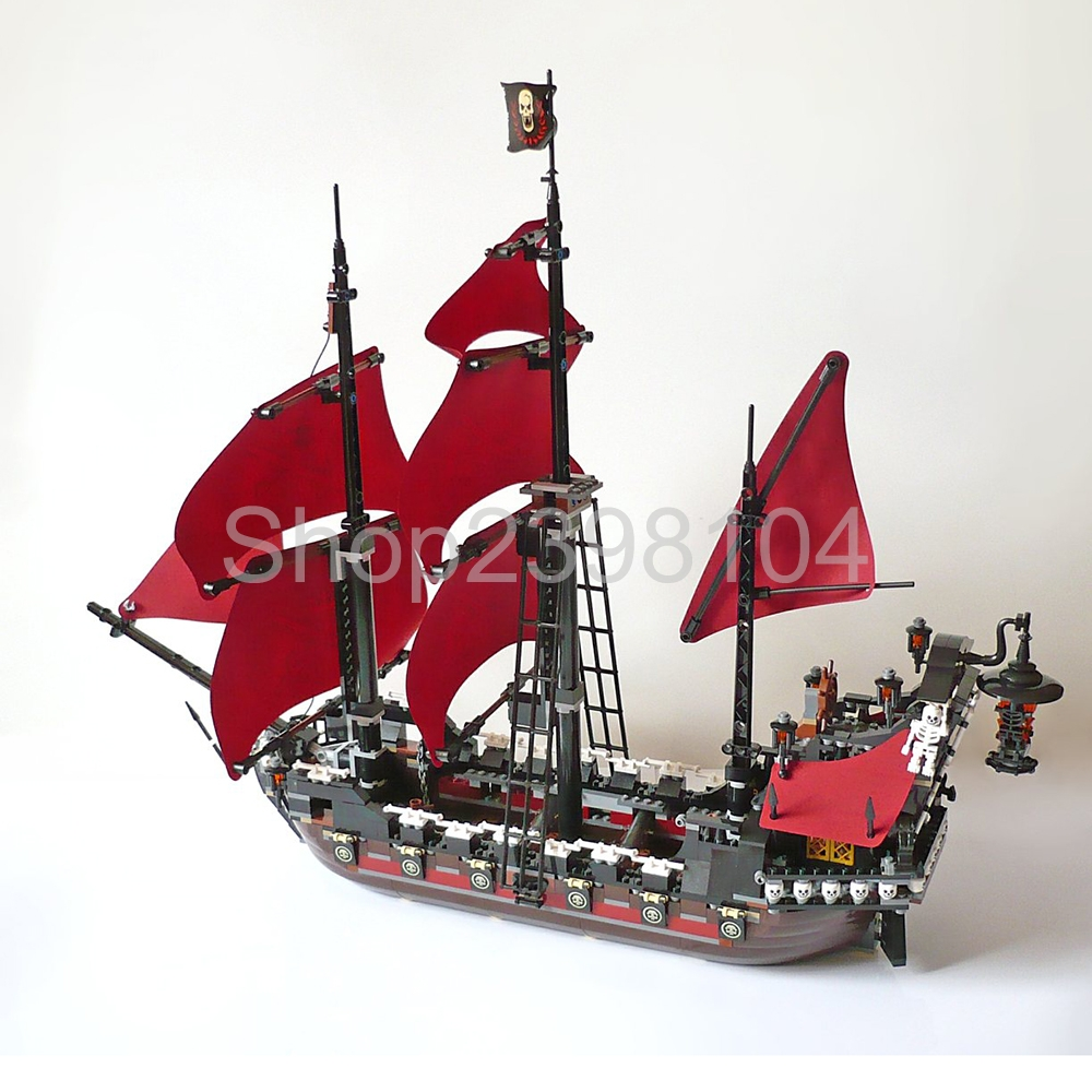 1151pcs Queen Anne's revenge Pirates of the Caribbean Educational Building Blocks Set L16009 compatible legoing 4195 model building blocks toys 16009 1151pcs caribbean queen anne s reveage compatible with lego pirates series 4195 diy toys hobbie