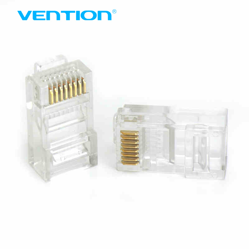 Vention RJ45 CAT5e Plug 8P8C UTP LAN Ethernet Gold Plated Connectors 10Pcs Lot