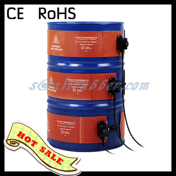 Silicone Band Heater Oil Drum Heater 200L 250X1740MM 230V 2000W  With Digital Thermostat