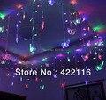 3.5m rgb led férias decoração da cortina casamento seqüência de luzes strip 100 smds 16 borboleta 110v/220v ue/uk/us/ua plug