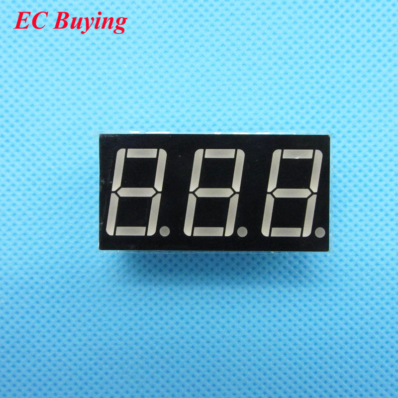 5pcs 3 bit 3bit Digital Tube Common Anode Positive Digital Tube 0 56 0 56in Red