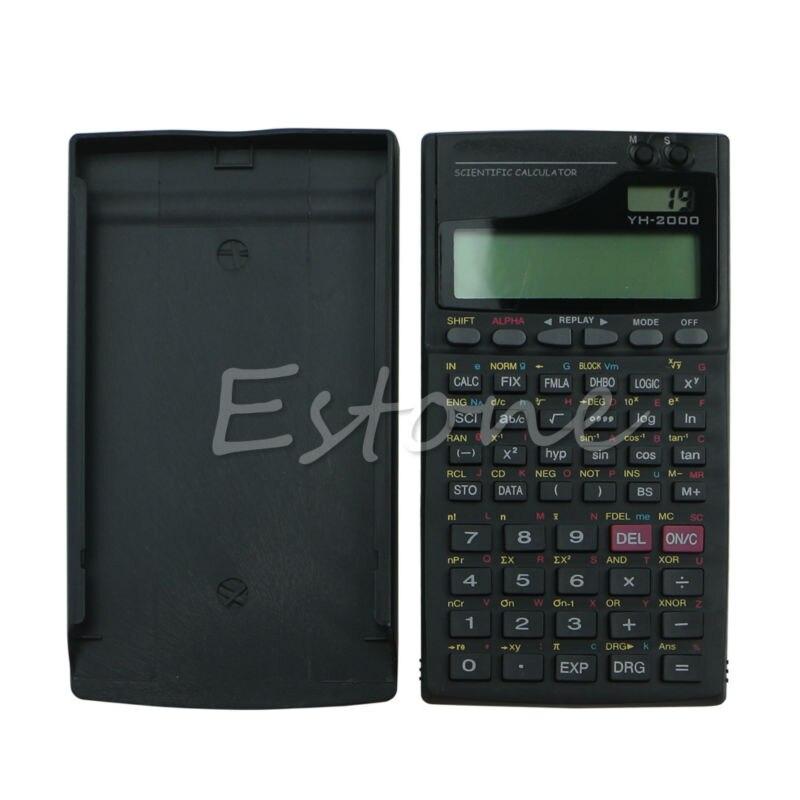 1 шт. Новый 2.5 ЖК-дисплей Экран дисплея 2000a научных Функция калькулятор черный