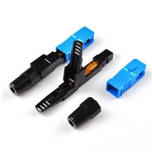 Image 2 - SC UPC szybkie złącze 100 sztuk Ftth Optical Connectos narzędzie do złącza osadzonego Ftth światłowodowe szybkie złącze UPC fibra optica