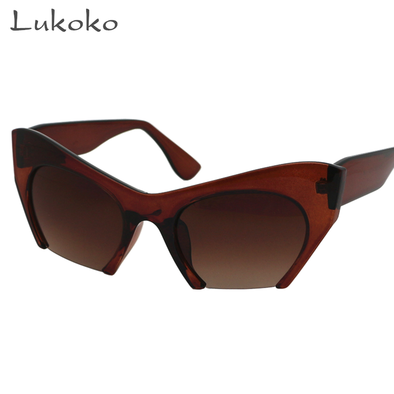 85d7dfe5eb7 Detail Feedback Questions about Lukoko UV400 New Brand Brown Ladies Cat Eye  Sunglasses Female Cateye Fashion Sun Glasses Vintage Cheap Women Sunglasses  Cat ...