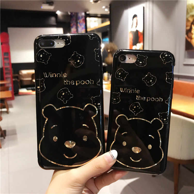 san francisco 9582d 0c149 Cute Winnie Pooh Bear Case For Samaung Galaxy S8 case for samsung Galaxy A5  S7 Edge S8 S9 Plus Cases Porcelain Glossy Back Cover