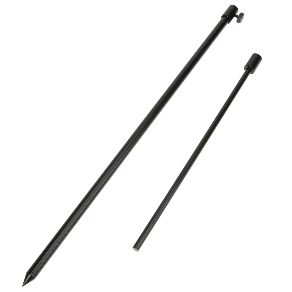 48-75cm Aluminiumlegering Fiske Bankstick Justerbar Fish Rod Pod Vila Carp Fiske Solid Black Rods Bank Sticks Holder