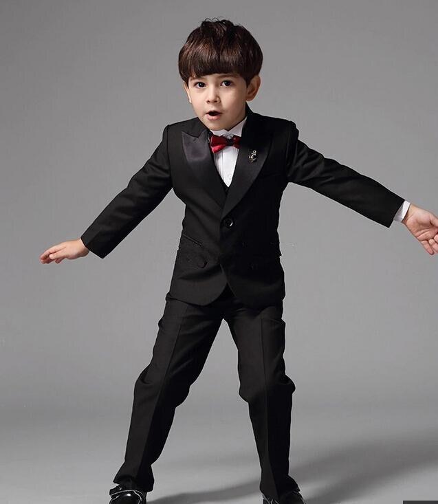 2db425db2 2015 niños pequeños vestir niña de las flores el nuevo chico de traje negro  piano traje trajes cultivan de moralidad R4 en Traje de los muchachos de  Bodas y ...