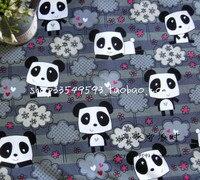 140x100 см с милой пандой серый хлопок Ткань для маленьких девочек одежда hometextile Чехол для подушки Шторы лоскутное DIY-AFCK674