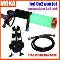 Preço especial Equipamento DJ Co2 Máquina pistola de Ar Arma De Gás Co2 armas Com Tanque de Co2 mochila Livre 3 Metros Co2 Gun mangueira Para partido