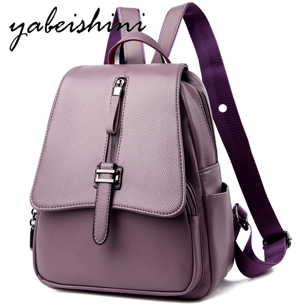 Woman Backpack Genuine Leather travel Backpacks Female High Quality Schoolbag Mochilas Escolar Feminina Shoulder Bags